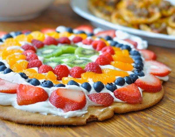 sugar cookie fruit pizza healthy breakfast ideas with fruit