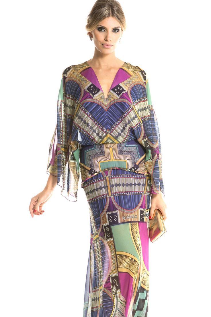Vestido Butterfly Estampa - Adriana Barra - Dress & Go