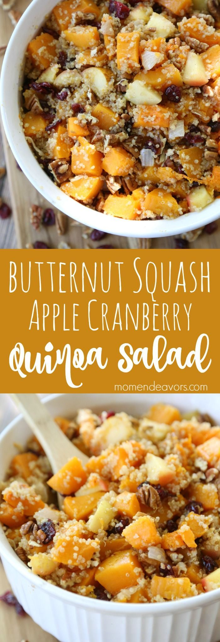 Fall Harvest Quinoa Salad with Butternut Squash, Apples, and Cranberries. #recipetwist #ad