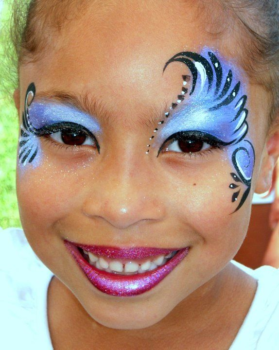 Beautiful eye design! face paint facepaint face painting