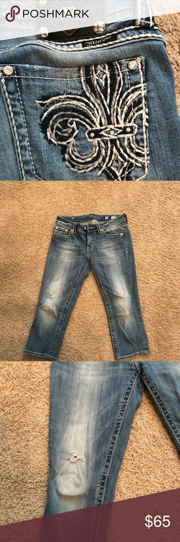 Miss Me Capris Miss Me Capris distressed slightly! Comes from a smoke free home. It is in great condition! Just waiting for you to make an offer! You need these! Miss Me Pants Capris