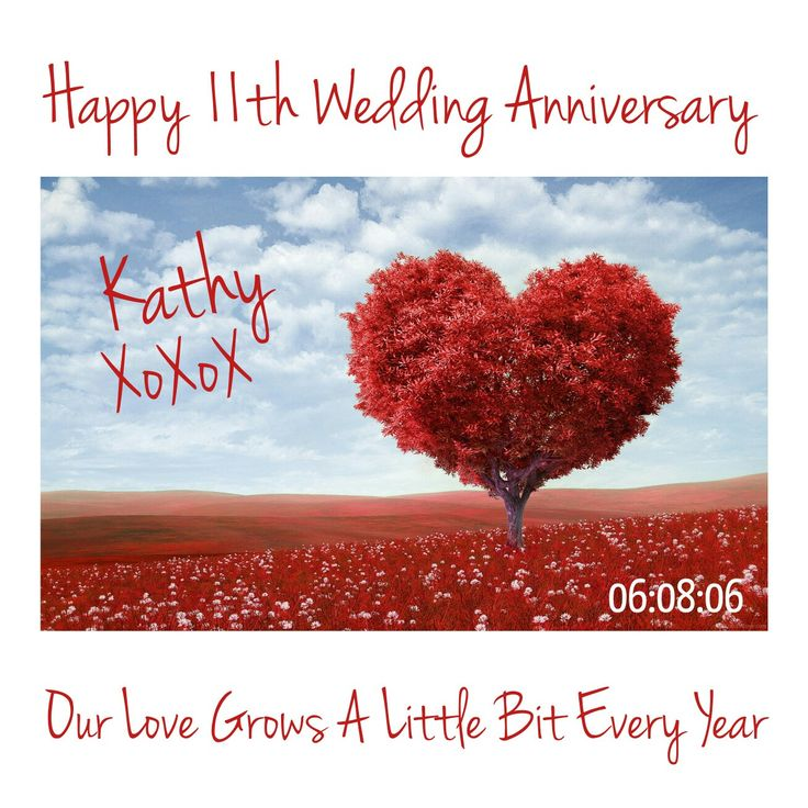 Happy 11th Wedding Anniversary my love.  Our love grows a little bit every year.  XoXoX 💜
