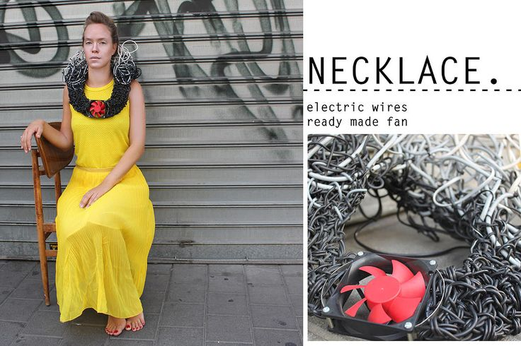 Yael Levin - electric wires necklace