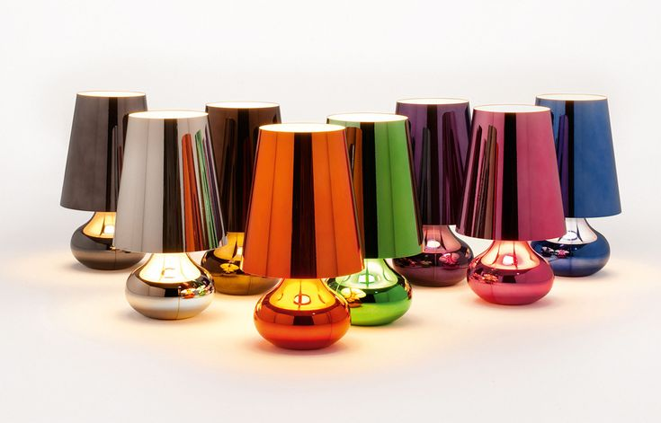 Multicoloured table lamps - contemporary, metallic.
