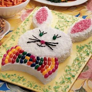 Easter Bunny Cake-- I make one of these every year with the kids.  they love it! my mom made it with me when i was a kid too.