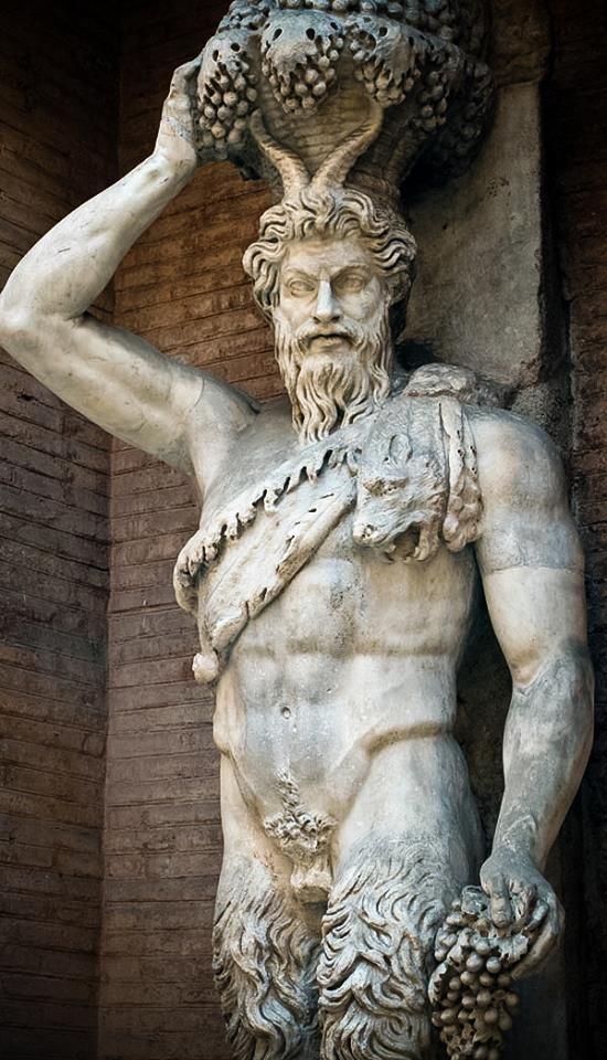 Satiro Della Valle. Scultura da originale di età ellenistica. Museos Capitolino, Roma, Italia.
