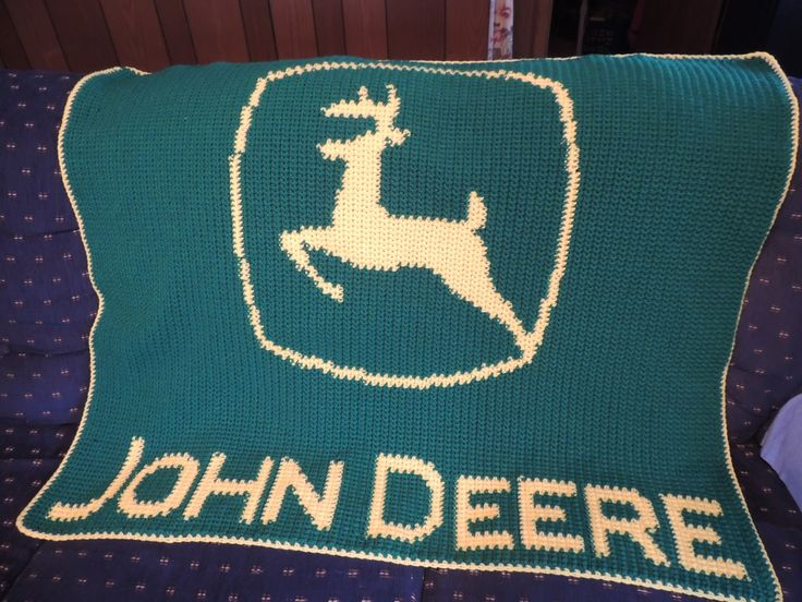 Crochet Pattern For John Deere Afghan : John Deere Afghan My passion for Crocheting Pinterest ...