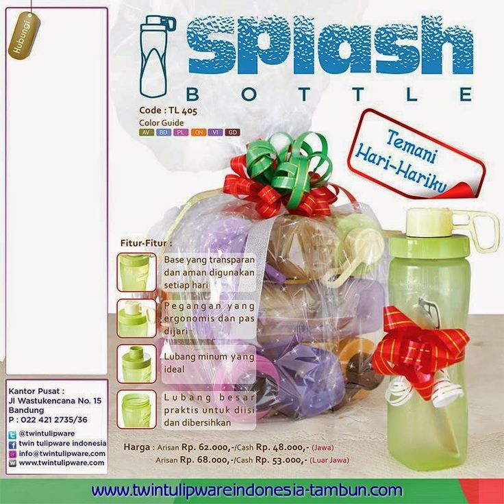 Splash Bottle Tulipware Flyer