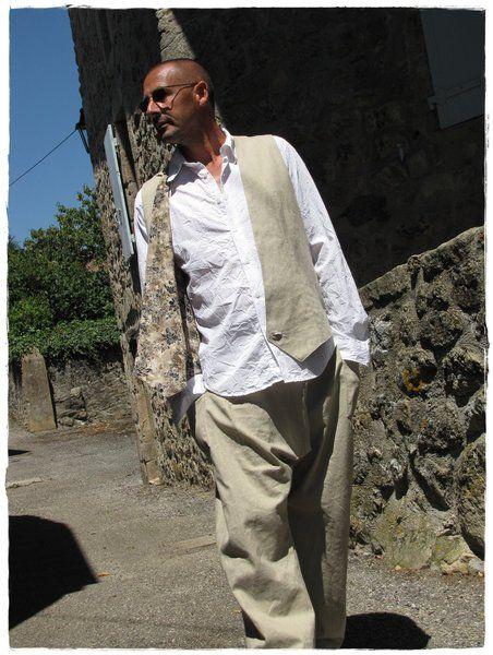 Baggy Sarouel chic. Costume pour homme en lin de Khoutûre Factory - Robes, tuniques, sarouels sur DaWanda.com