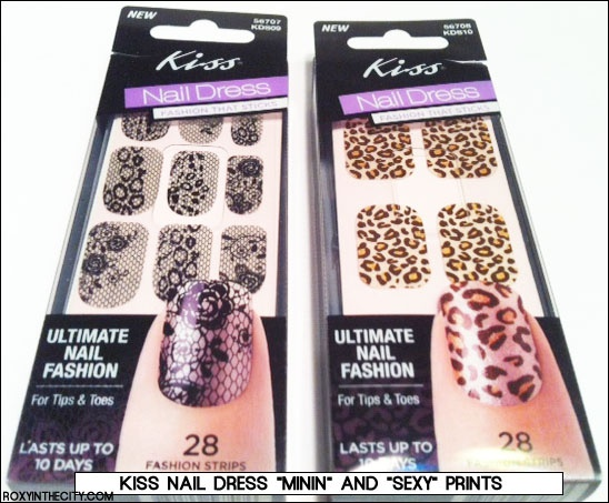 How fun are these Kiss Nail Dress stick on nails? Kiss