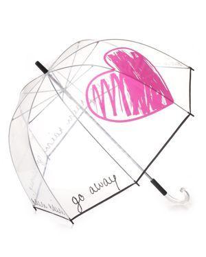 Rain Rain Go Away Clear Umbrella