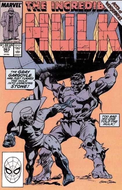 Acts Of Vengeance - Marvel - The Gray Gargoyle - Unmoving Stone - Dec 363 - Gene Colan