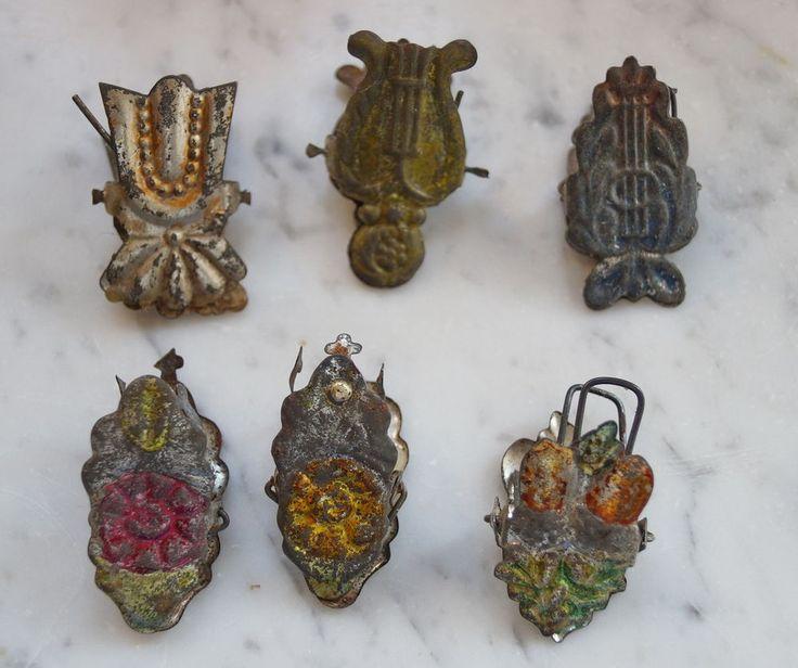 CBS 6 Kerzenhalter aus Metall  - 19. Jahrhundert um 1880  (# 4821)
