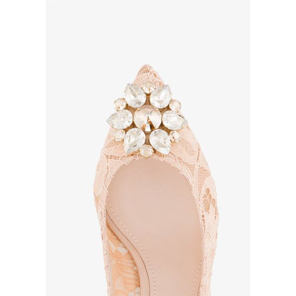 Dolce & Gabbana Bellucci Pumps (2.890 BRL) ❤ liked on Polyvore featuring shoes, pumps, rainbow shoes, pointy toe kitten heel pumps, nude shoes, nude kitten heel pumps and flower shoes