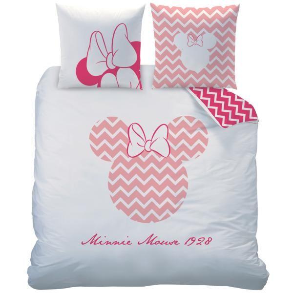 Parure de lit Minnie et Mickey 100/% coton 240 X 220 CM