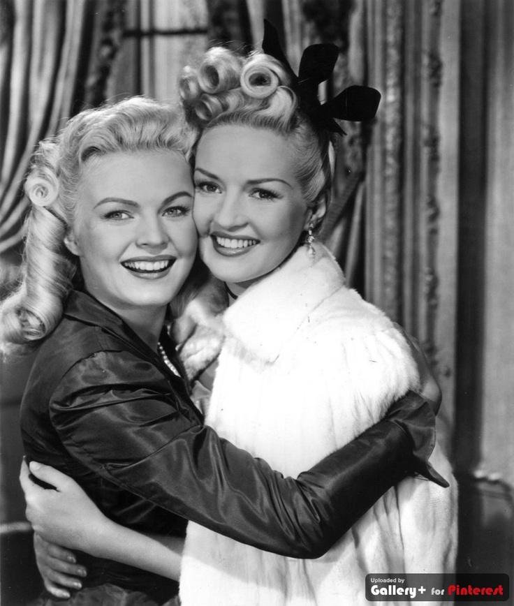 Betty Grable and June Haver