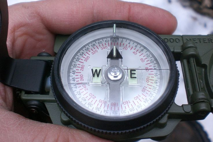 Shooting an Azimuth With Your Lensatic Compass - orienteering, learn to use a compass