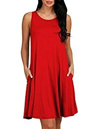 New OFEEFAN Women's Casual T-Shirt Sleeveless Tunic Tank Dresses With Pockets online. Find the perfect A. Byer Tops-Tees from top store. Sku EWZL93094SXRL81007