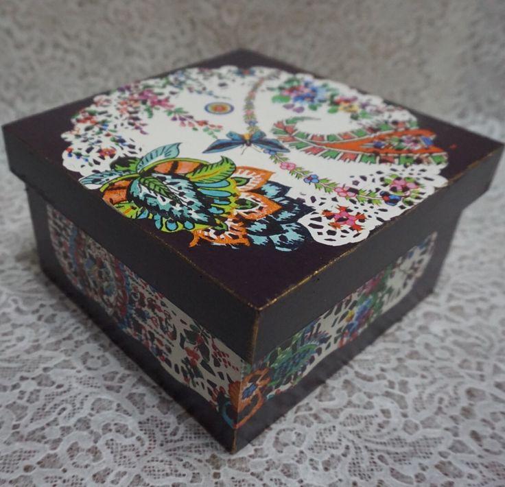 Decorated Box, Decoupage, Dekupaz, Doily Paper