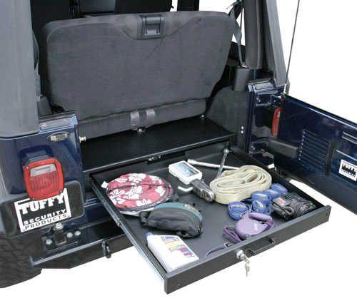 Tuffy Security Products Full Length Underseat Drawer for 76-06 Jeep® CJ-5, CJ-7, CJ-8 Scrambler, Wrangler YJ, TJ & Unlimited | Quadratec