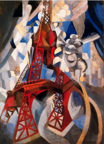 Robert Delaunay (1885-1941). Eiffel Tower, 1911-12. Oil on canvas. Guggenheim Museum, NY. #Cubism #GuggenheimMuseum