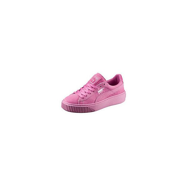 Basket Platform Reset Women's Trainers ❤ liked on Polyvore featuring shoes, sneakers, platform sneakers, platform trainers, grunge shoes and platform shoes