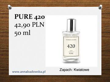 Perfumy PURE 420 damskie kwiatowe