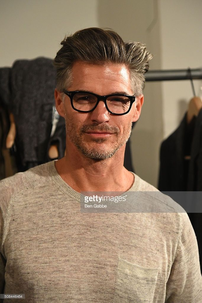 Model Eric Rutherford backstage at the Todd Snyder fashion show during New York Fashion Week Men's Fall/Winter 2016 at Skylight at Clarkson Sq on February 4, 2016 in New York City.