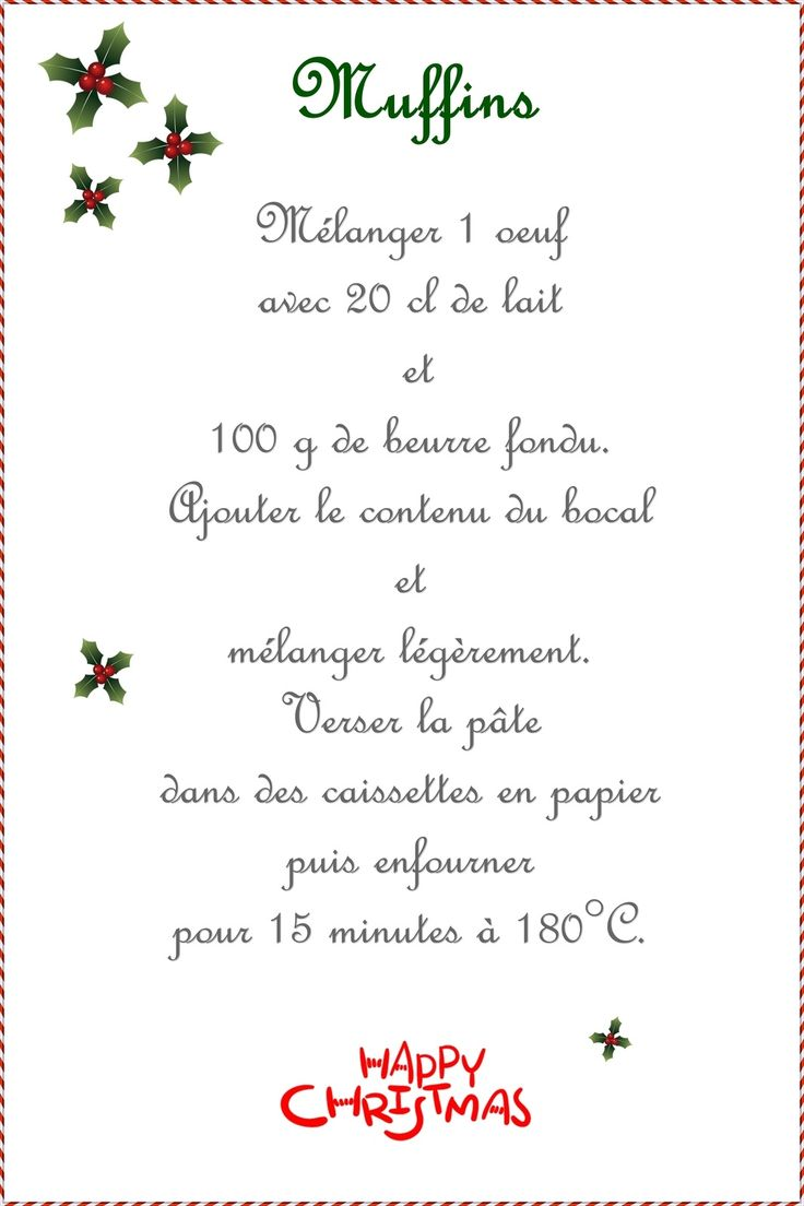 SOS Muffins amandes et chocolat noir ... Kit à muffins à offrir