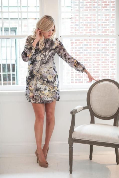 WHITE COLLECTION Piedmont dress - gray -- super cute dress for wedding guest @Fab'rik boutique