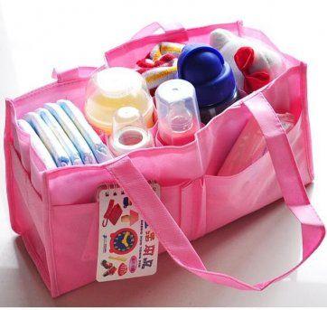 Organizador de bolsa de bebê cor rosa FRETE GRÁTIS no Ficou Pequeno - Produtos de segunda mãozinha para bebês, crianças e mamães.