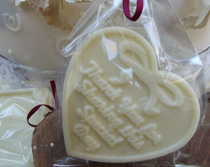 EMBOSSED WHITE CHOCOLATE HEARTS   Embossed with the phrase 'THANK FOR SHARING THIS DAY' packaged in cello bag and ribbon colour of your choice $2.20 each www.frescofoods.co.nz Email: fresco@woosh.co.nz