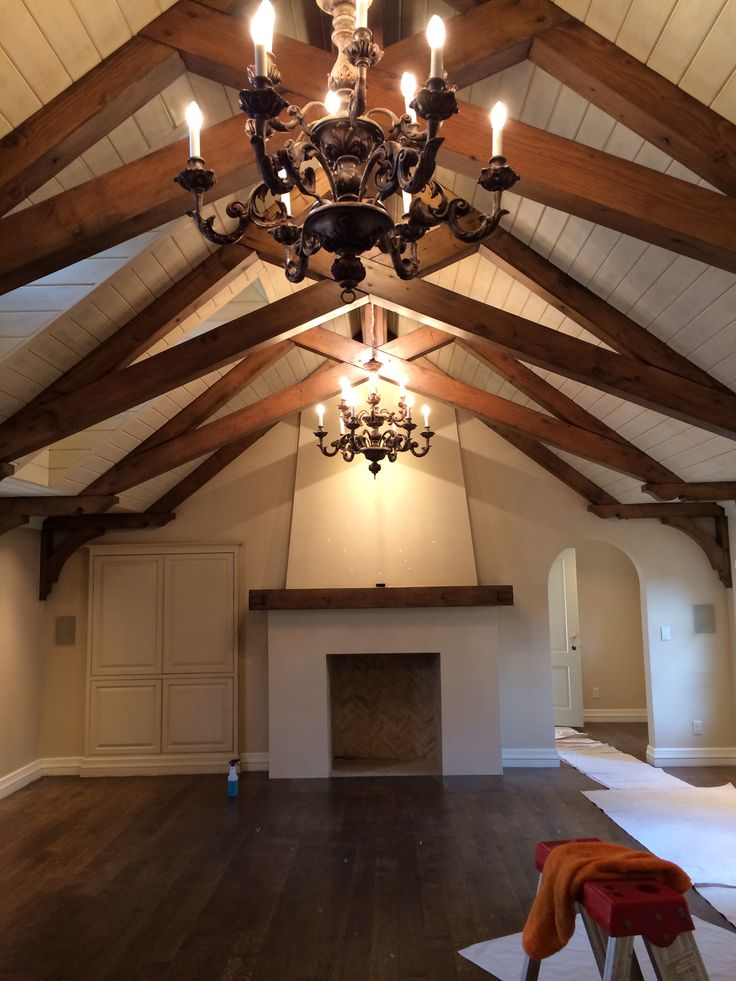 1000 images about exposed roof trusses on pinterest for Half vaulted ceiling with beams