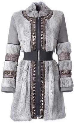 ShopStyle: Twenty8twelve Misty Grey Printed Silk Dress