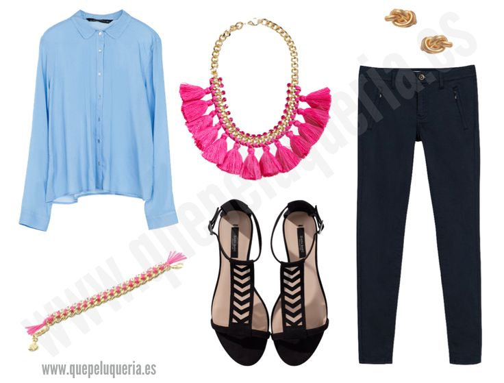 **LOOK POLKA DOTS** Camisa: Zara Woman 2014 / Pulsera: AdelitaAdelita 2014 / Collar: H&M 2014 / Sandalias: Zara Woman 2014 / Pendientes: Dogeared para Asos / Pantalones: Zara Woman 2014