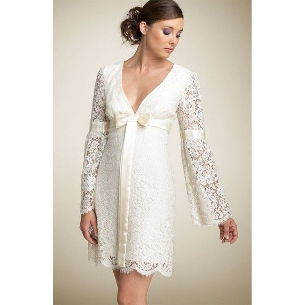 Short Skirts With Simple Straight Style Wedding Dress