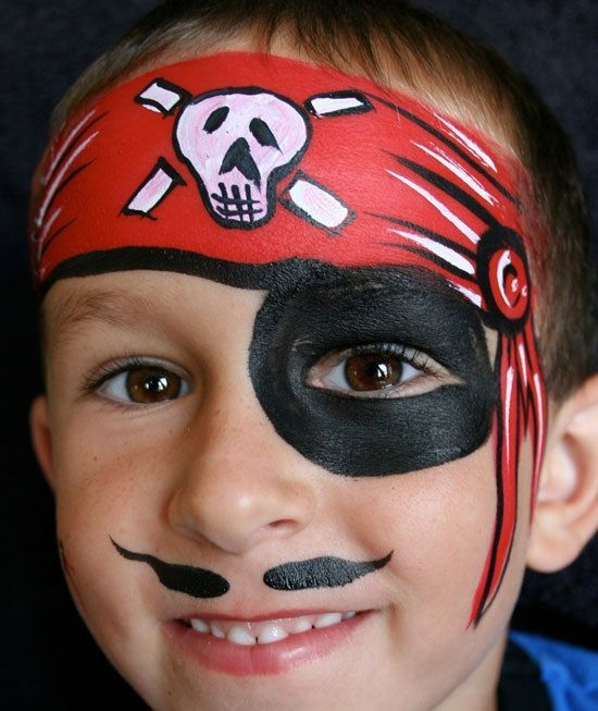 Пираты рисунки на лице