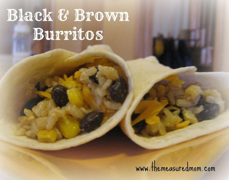 black brown burritos a meatless main dish black brown burritos a ...