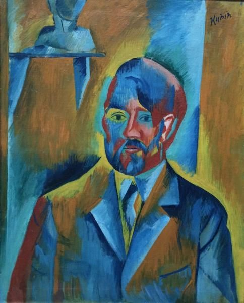 OTAKAR KUBÍN (1883-1969): SELF PORTRAIT / 1913-14, France, Paris