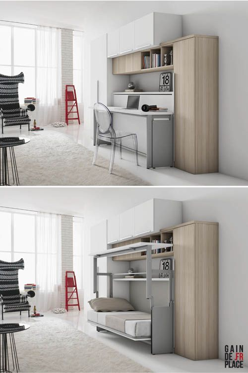 les 25 meilleures id es de la cat gorie lits escamotables sur pinterest. Black Bedroom Furniture Sets. Home Design Ideas
