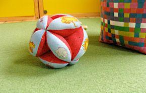 Kostenlose Anleitung mit Schnittmuster für einen Greifball / Free pattern and tutorial for a ball (in German)