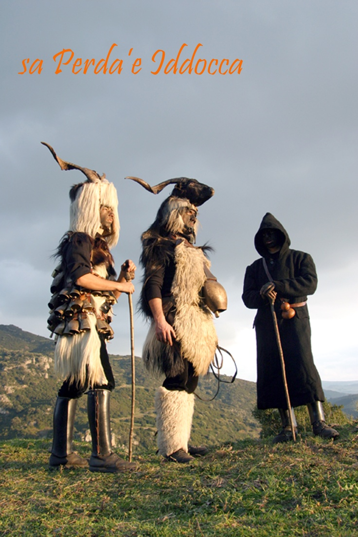 """The typical carnival masks of Samugheo, called """"Mamutzones"""""""