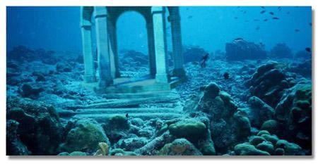 Real Underwater City Underwater ruin...