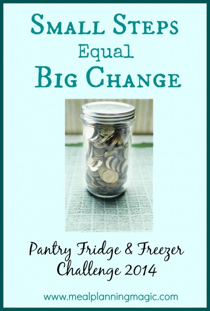 Small Steps, Big Change: Pantry, Fridge & Freezer Challenge {Week 4} - Meal Planning Magic