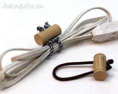 wine cork cord ties, electrical, how to, organizing, outdoor living, repurposing upcycling