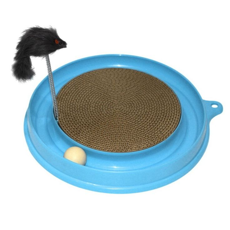 Turbo Ball With Scratching Corrugated Paper And Fake Mouse //Price: $24.20 & FREE Shipping //     #kitty