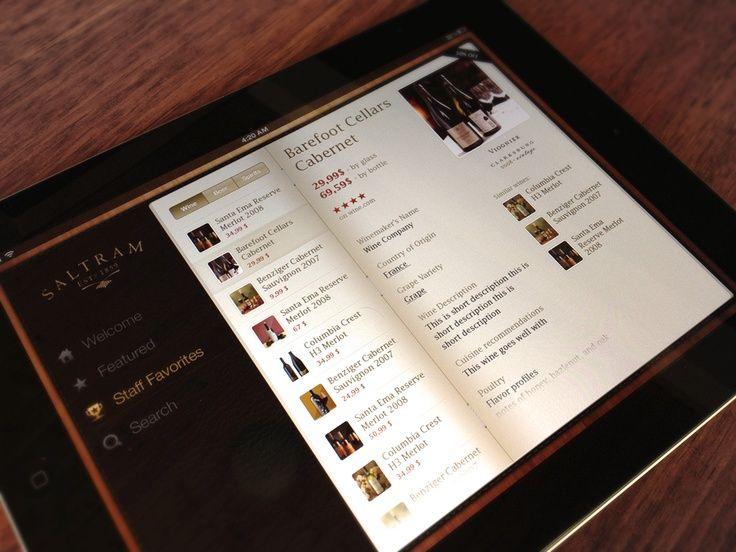 apple, design, ios, iPad, User Interface, inspiration, Wine App for iPad