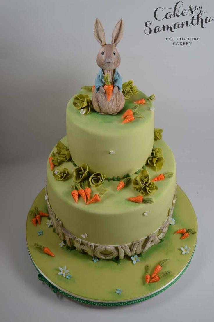 Peter Rabbit Inspired Naming Ceremony Cake.