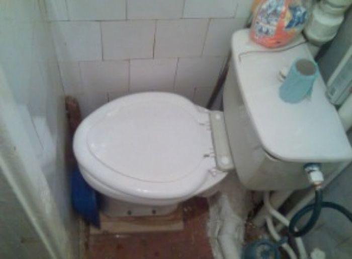 Необычная туалетная комната .