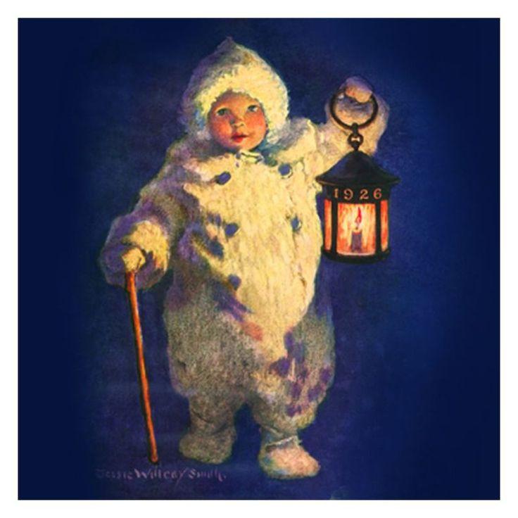 Jessie Willcox Smith Greeting Cards : Child with Lantern